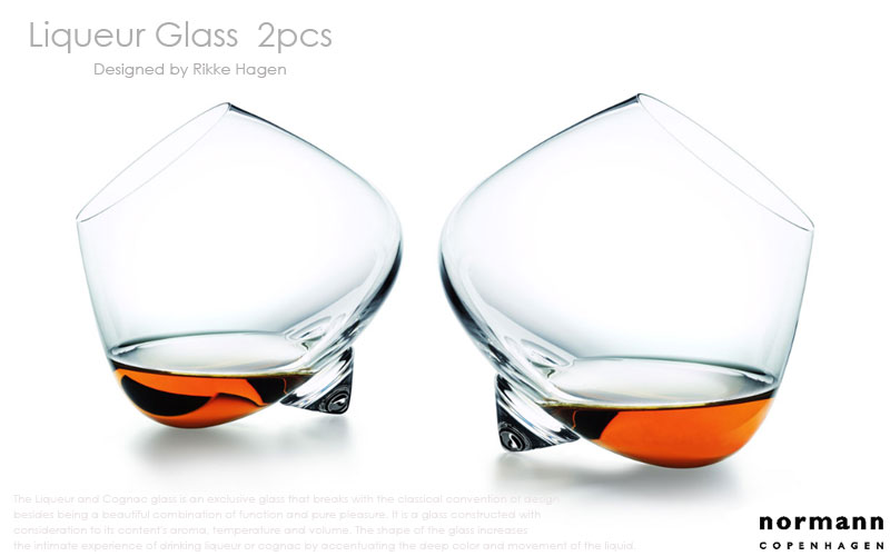 Liqueur Glassリキュールグラス2個セット(normannCOPENHAGENノーマンコペンハーゲン),北欧,デンマーク,北欧雑貨,北欧インテリア,北欧ギフト