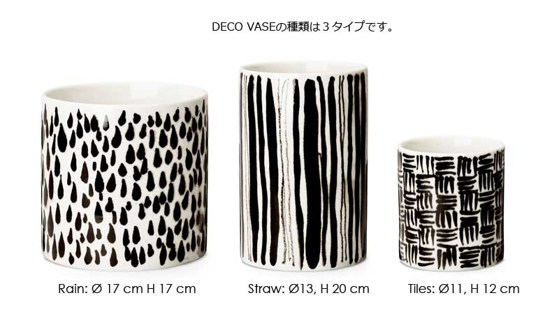 Deco Vase(デコ・ベース)Rain(レイン)H=17cm 花瓶 DESIGN HOUSE stockholm(デザインハウスストックホルム)北欧スウェーデン