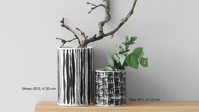Deco Vase(デコ・ベース)straw(ストロー)H=20cm 花瓶 DESIGN HOUSE stockholm(デザインハウスストックホルム)北欧スウェーデン
