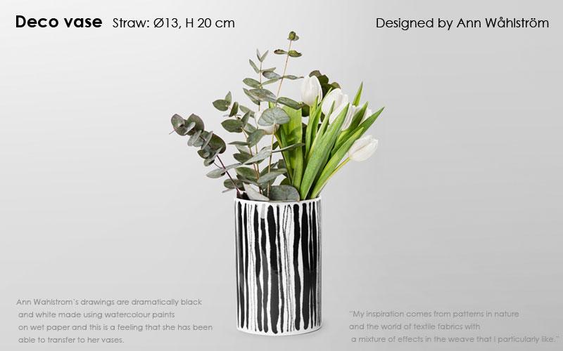 Deco Vase(デコ・ベース)straw,H=20cm 花瓶 DESIGN HOUSE stockholm(デザインハウスストックホルム)北欧スウェーデン