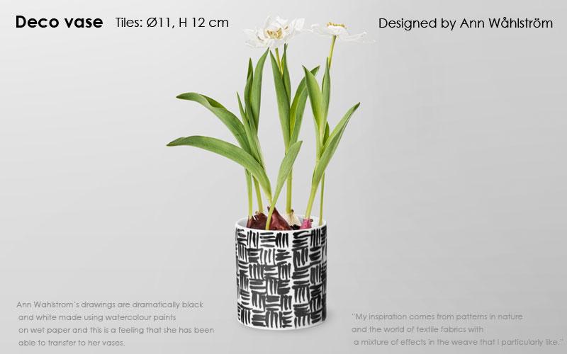 Deco Vase(デコ・ベース)tiles(タイル)H=12cm 花瓶 DESIGN HOUSE stockholm(デザインハウスストックホルム)北欧スウェーデン