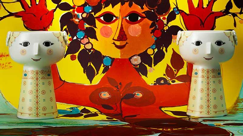 ビヨン・ヴィンブラッド, ヴィヨルン・ウィンブラッド,ビョルンウィンブラッド,Bjorn Wiinblad, Flower Vase(フラワーベース)H21cm,amelia,アメリア,北欧,デンマーク,北欧雑貨,北欧インテリア,北欧ギフト