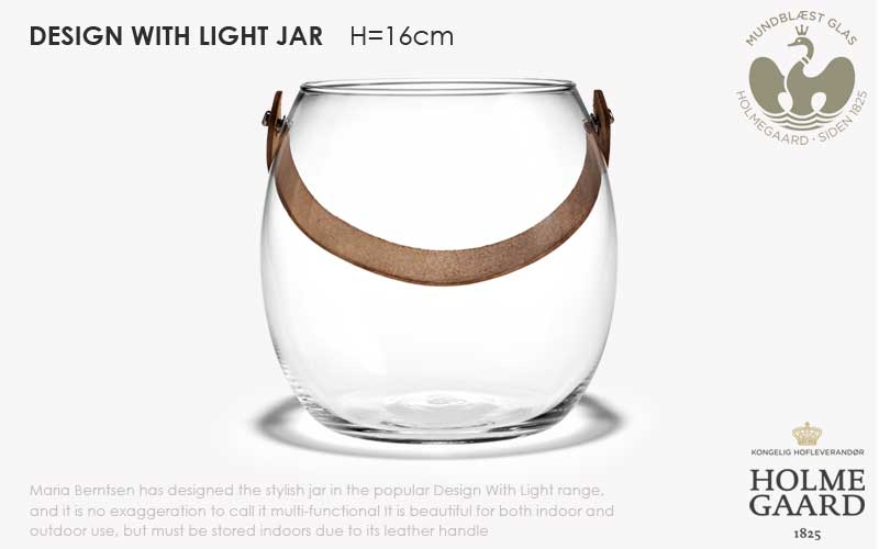 DESIGN WITH LIGHT JAR,デザインウィズライト,ガラスポットH=16cm,HOLMEGAARD,ホルムガード,北欧雑貨,北欧インテリア北欧ギフト