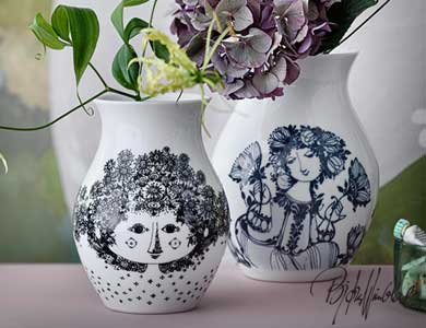 花瓶,bjorn wiinblad,ビョルンウィンブラッド,ビヨン・ヴィンブラッド,デンマーク,北欧