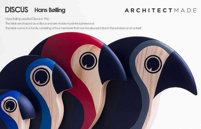 discus,ディスカス,bird,鳥,デンマーク,architectmade,アーキテクトメイド,置物,木製オブジェ