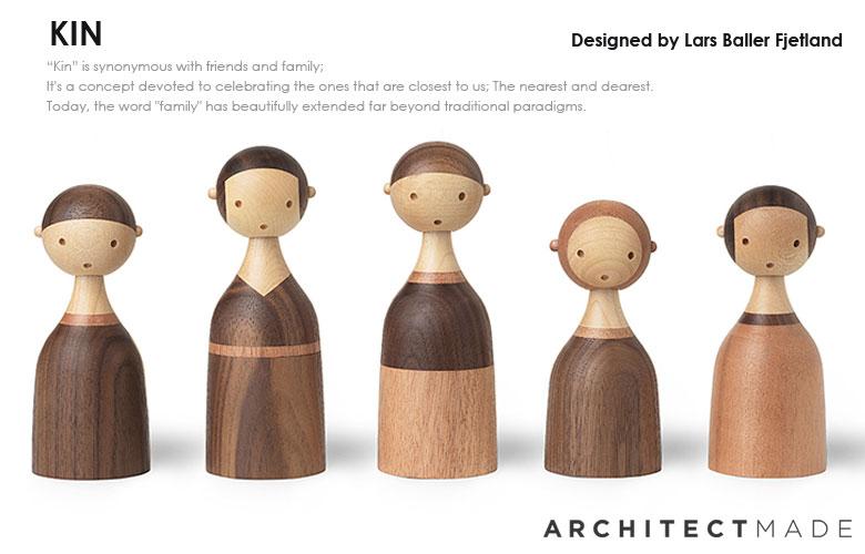 アーキテクトメイド,kin,家族,木製オブジェ,北欧デンマーク