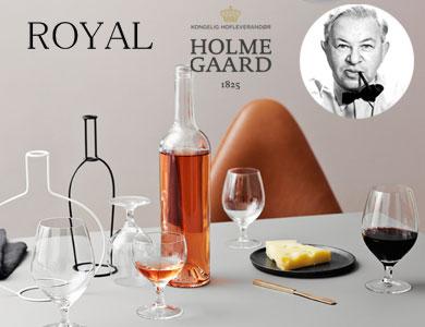 アルネヤコブセン,ロイヤルシリーズ,グラス,ワイングラス,ホルムガード,北欧デンマーク