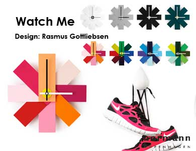 watch me,wall clock,壁掛け時計,ノーマンコペンハーゲン,北欧インテリア,北欧雑貨