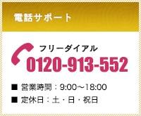 フリーダイアル:0120-913-552