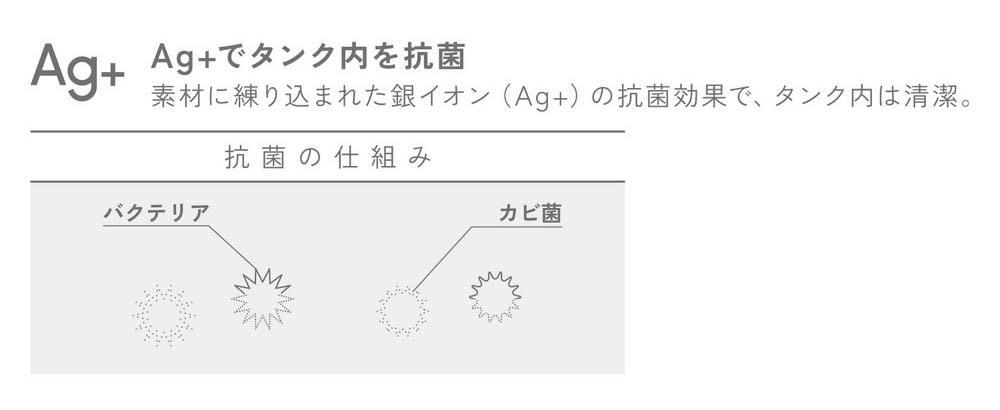 銀イオン抗菌加工