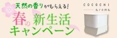 cocochi-aroma春の新生活キャンペーン