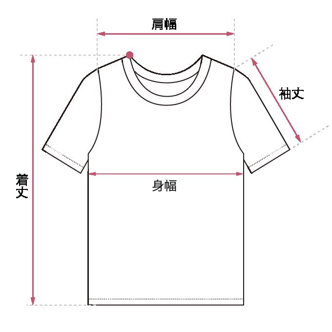 Tシャツ・カットソー サイズガイド画像