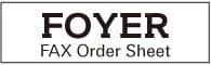 FAX Order Sheet