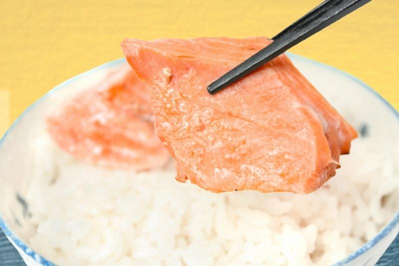 銀鮭 一夜干 サイド