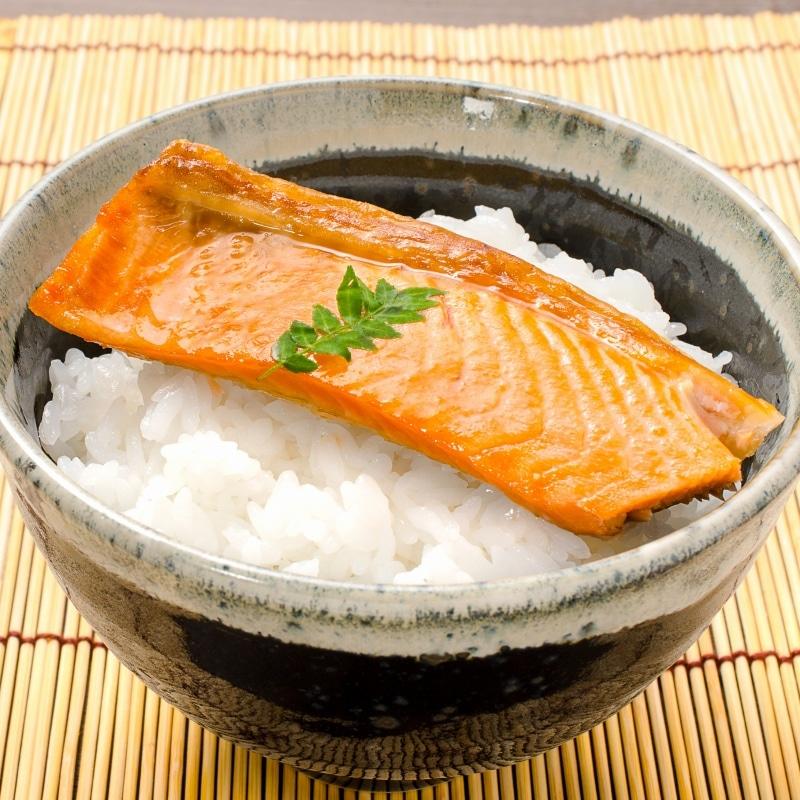 紅鮭ハラス ご飯