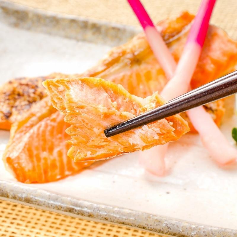 紅鮭ハラス 箸持ち
