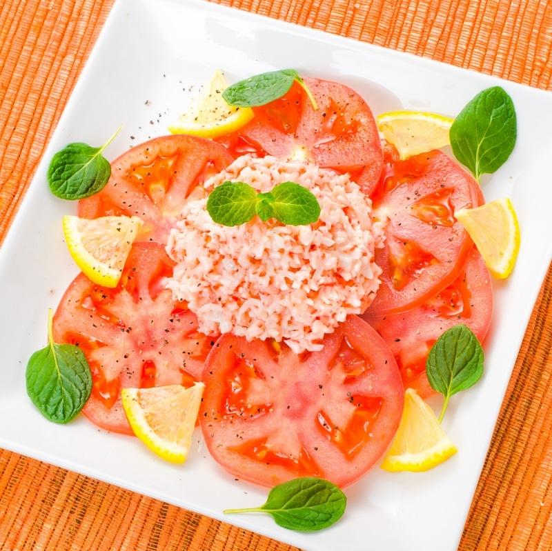 カニサラダ トマトサラダ