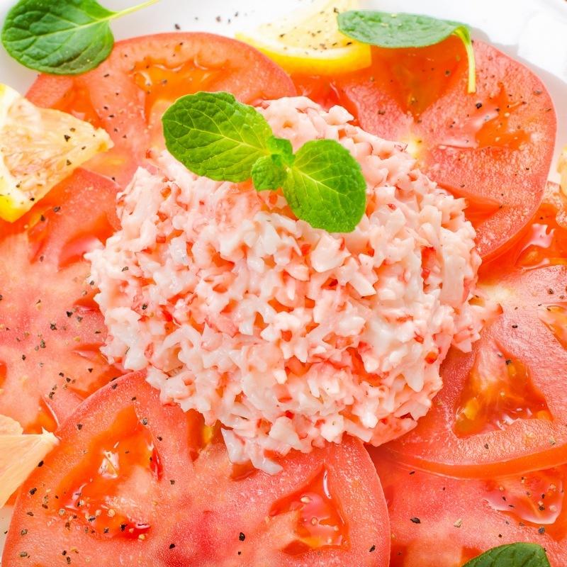 カニサラダ トマトアップ