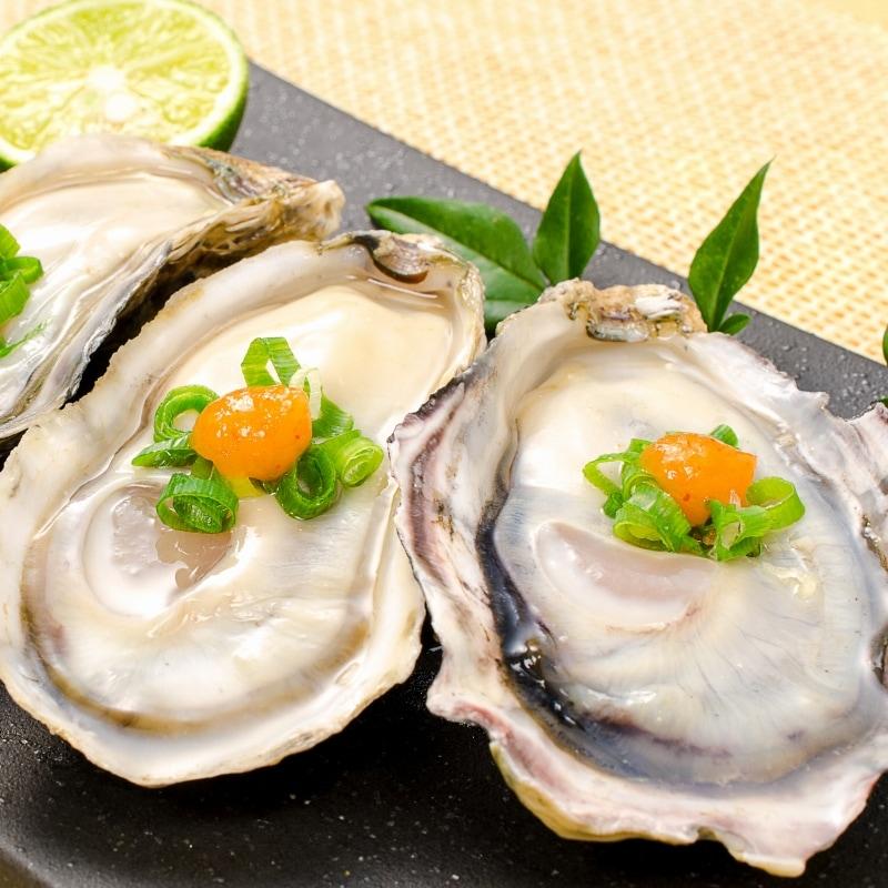 殻付き牡蠣 皿盛りアップ