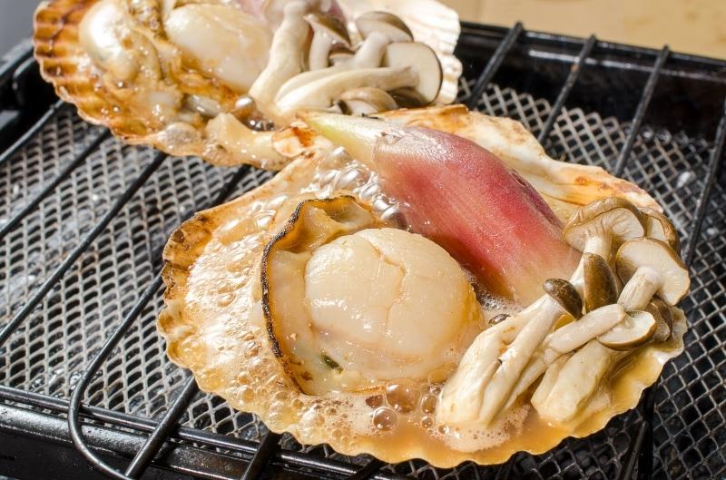 片貝ホタテ みょうが焼き