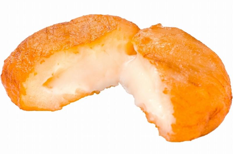 ポテトチーズもち チーム断面