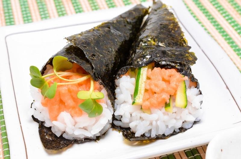 トロサーモンフレーク 手巻き寿司