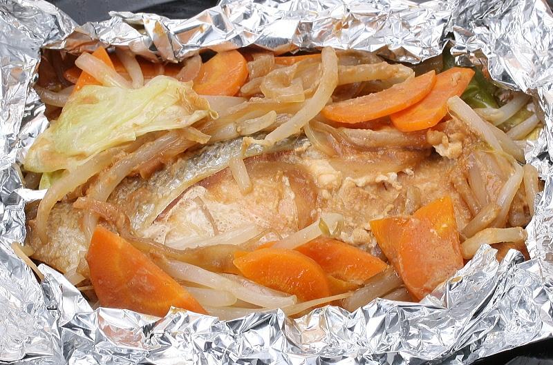銀鮭 一夜干 ホイル焼き