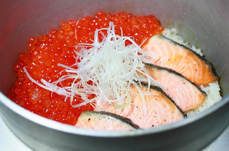 銀鮭 一夜干 海鮮丼