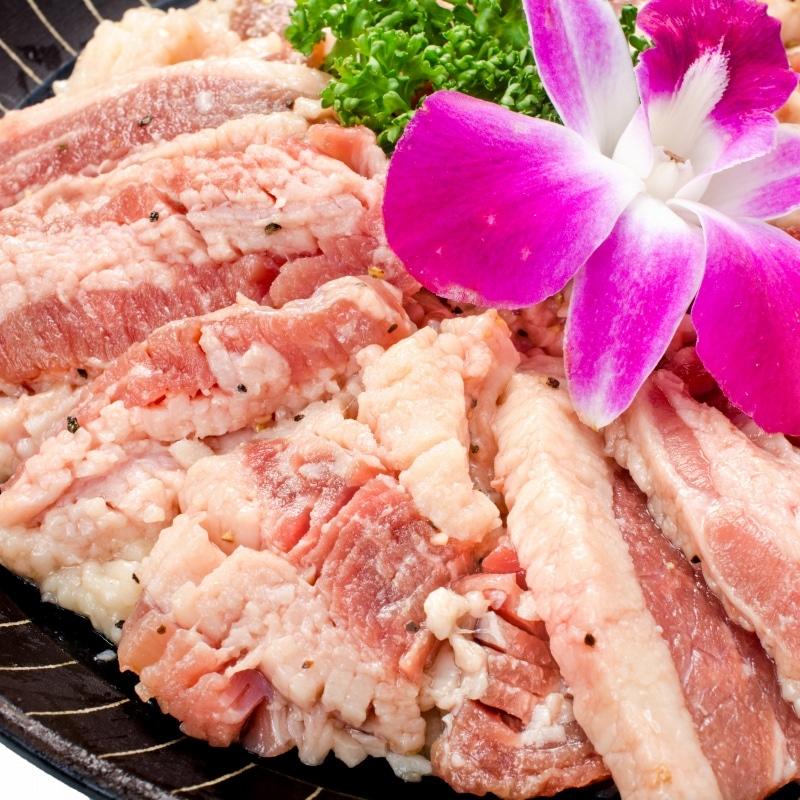 塩ダレ牛カルビ焼肉