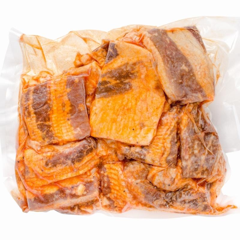 タレ漬け牛カルビ焼肉 1