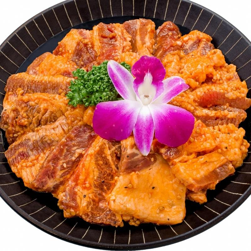 タレ漬け牛カルビ焼肉 5