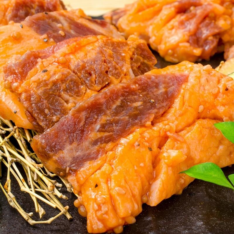 タレ漬け牛カルビ焼肉 8