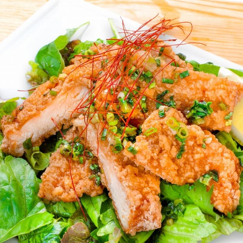 鶏の竜田揚げ油淋鶏ソース