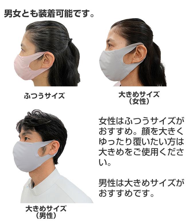 男女とも装着可能なマスクです。
