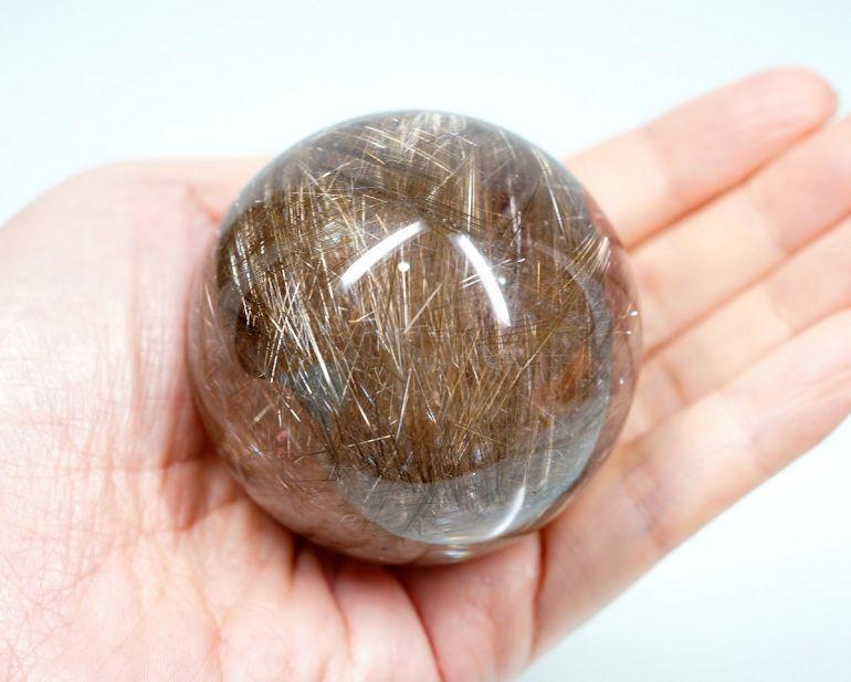 天然石:プラチナルチル スフィア(画像現物)