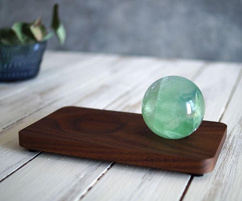 フローライト スフィア - Wood Type2 -
