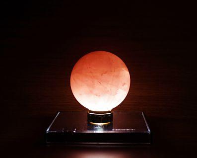 ローズクォーツ 丸玉置物 66mm玉 No.7 【 アーシスト LED照明付き】