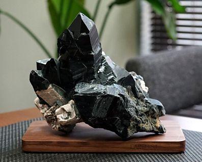 黒水晶 (モリオン) クラスター・原石 No.45