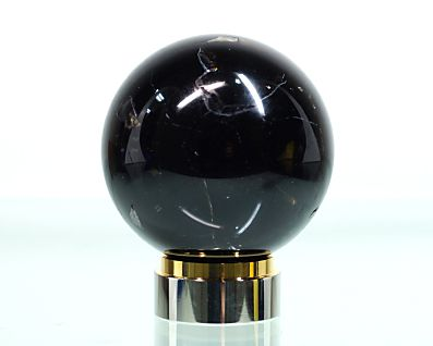 黒水晶 丸玉置物 20mm玉