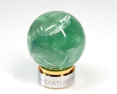グリーンフローライト 丸玉置物 30mmmm玉 (EARTHIST 台座付き)