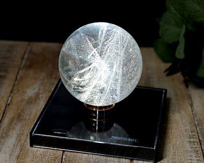 ブラジル産 本水晶 丸玉 (銀河水晶) 74mm玉 No.3