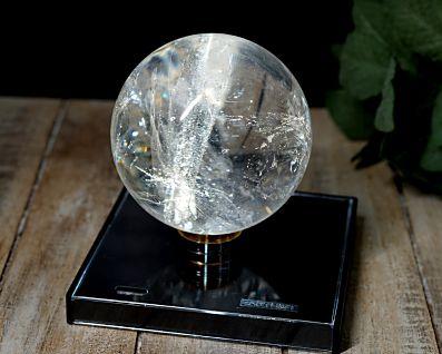 ブラジル産 本水晶 丸玉 (銀河水晶) 82mm玉 No.4