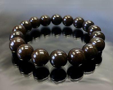 コンドライト隕石(サハラNWA869 ) さざれブレスレット 11mm玉 No.8