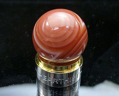 レッド天眼石(赤天眼石) 丸玉置物 20mm玉