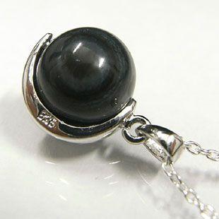 ブラック天眼石 ネックレス