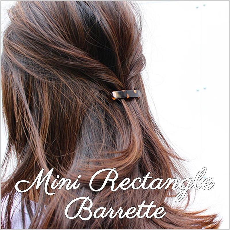 MINI RECTANGLE BARRETTE