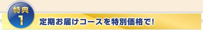 特典1.定期お届けコースを特別価格で!