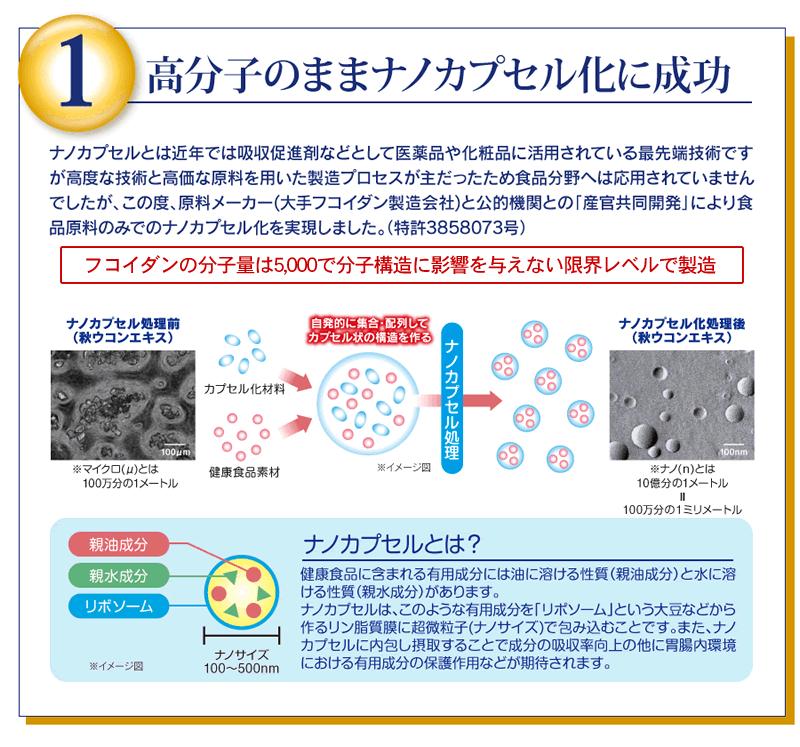 特長1、高分子のままナノカプセル化