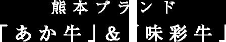 熊本ブランド「あか牛」&「味彩牛」