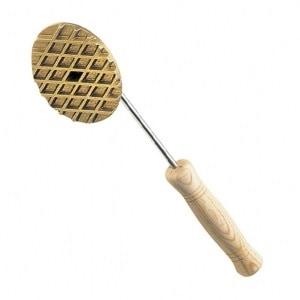 木柄 ステーキ用 焼ゴテ (真鍮 鋳物製 )